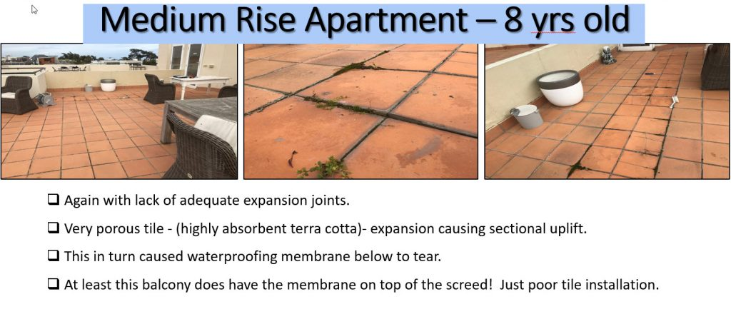 Balcony Defects & Water Leaks